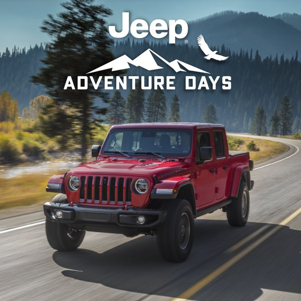 Jeep Gladiator Adventure Days Finance for as low as 3.49% for up to 96 months on all 2021 Jeep Gladiator models for select owners models Rocky Mountain Dodge Alberta Red Deer